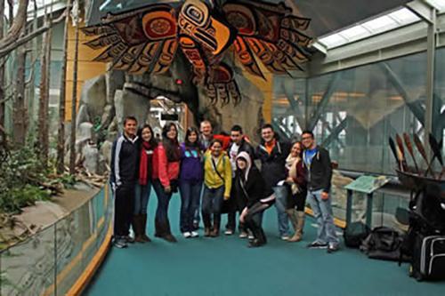 Pictured from left to right are: Jonathan Gutiérrez, Esther Cavazos, Triana González, Amanda Garza, George Thomas Pugh, Yuliana Alcaráz, Alvaro Aguirre, Leslie Cortez, Aaron Gangi, María Fernanda Andrade, and Alejandro Barrera.