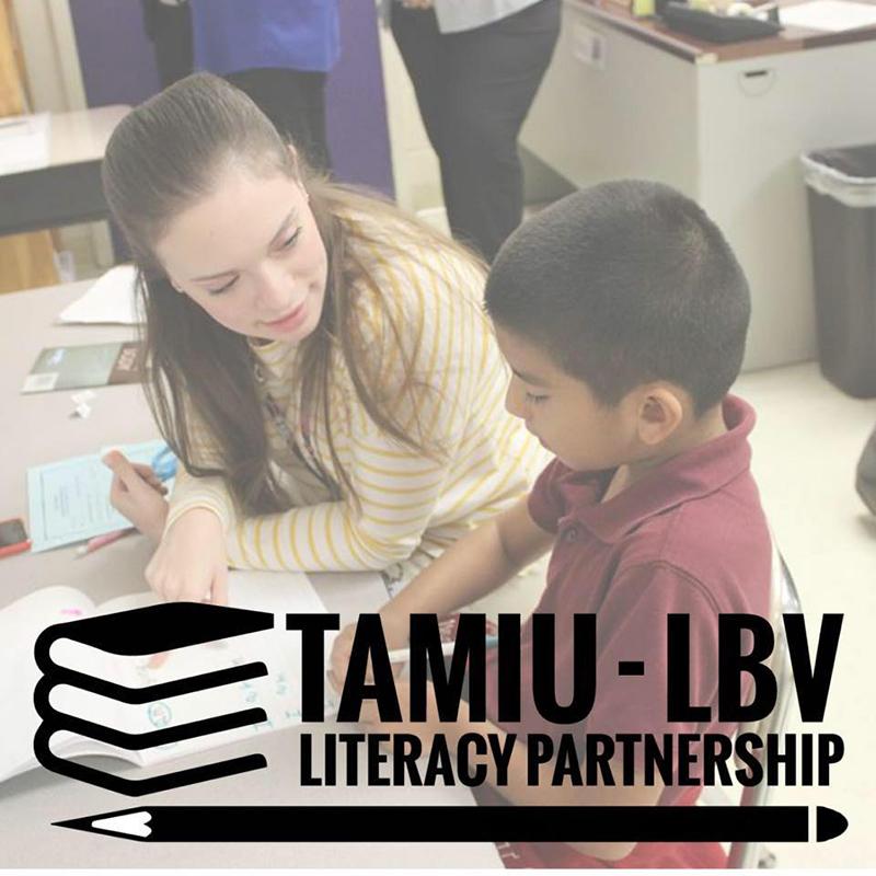 TAMIU-LBV Literacy Partnership Logo