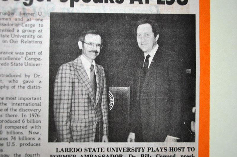 Left to Right: Dr. Cowart and Robert Krueger.