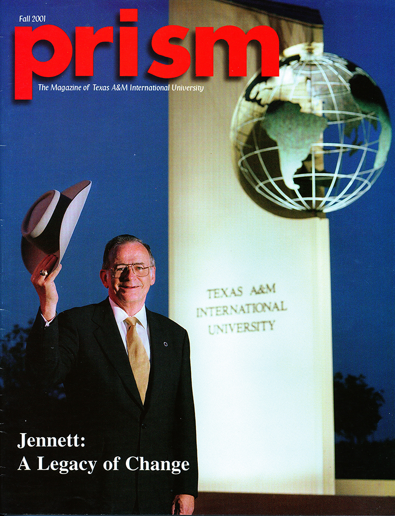 Dr. J. Charles Jennet on the cover of TAMIU's Prism magazine
