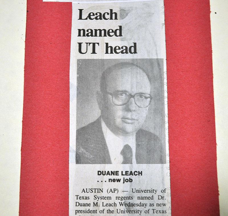 Portrait of Dr. Duane Leach.