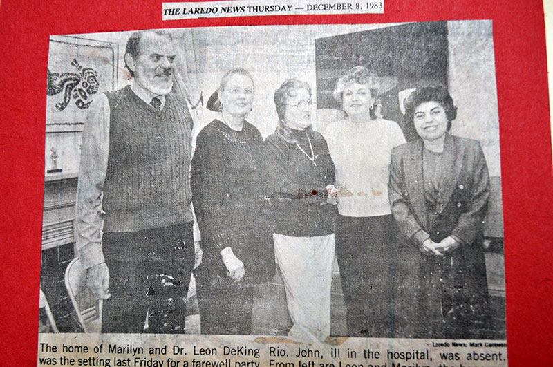 Dr. DeKing is pictured with four women as a celebration for his re-election is taken.