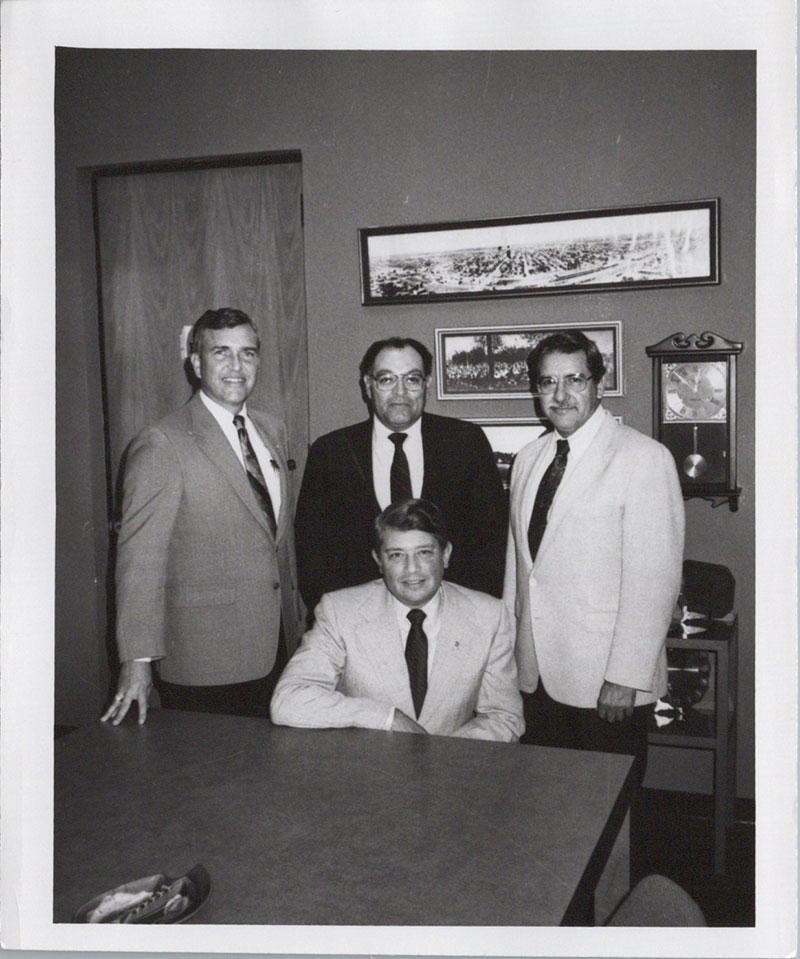 Photographed are Drs. Pacheco, Sayavedra, and Ball along with Joe Garcia.