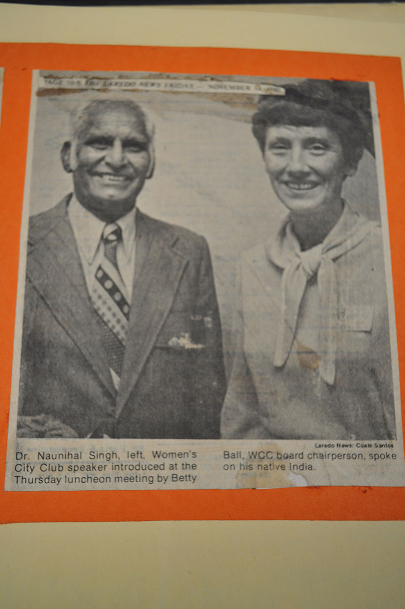 Photographed left to right: Dr. Singh and Betty Ball.