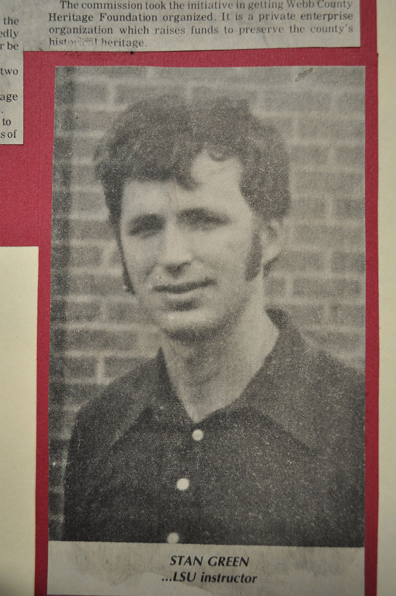 A young Dr. Stanley Green in his late teends to early 20's.