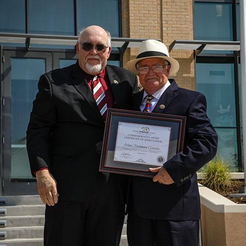 Dr. Arenaz and Arturo Nochebuena González