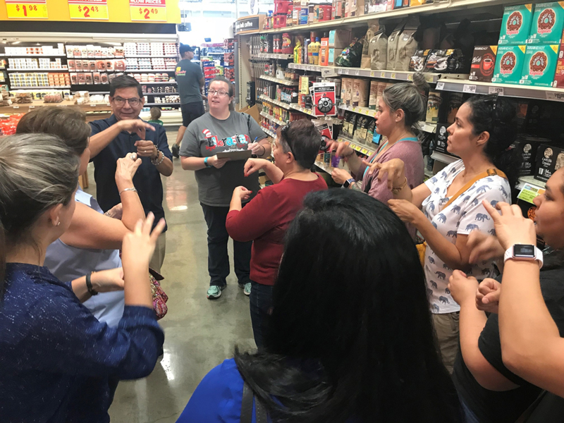 American Sign Language course at H-E-B Grocery Store on Del Mar, taught by Francisco Ramirez
