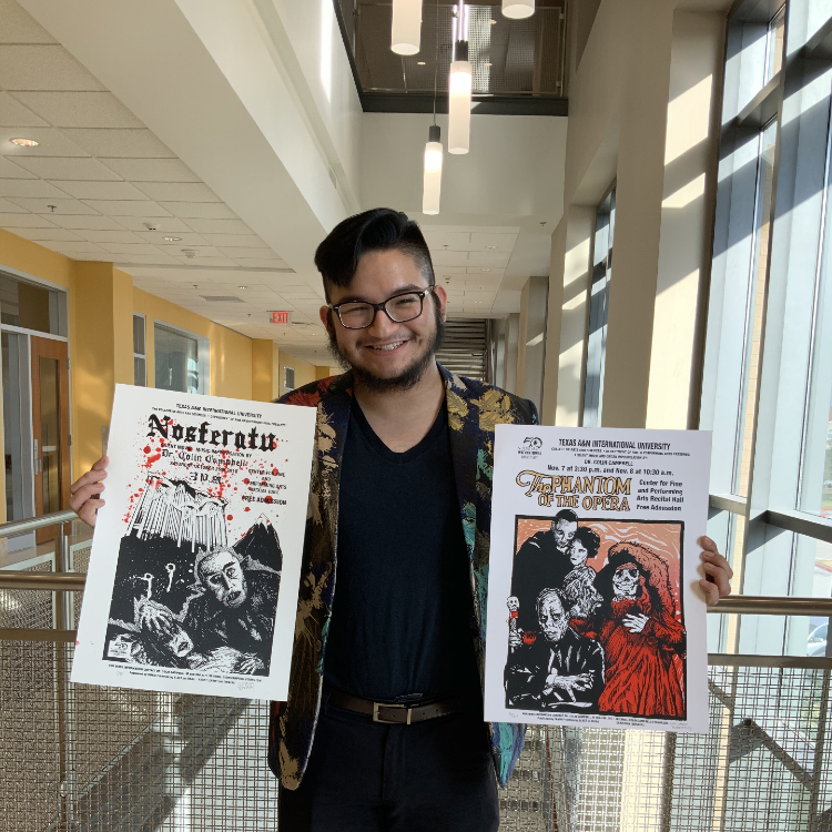 Christian Terrazas, senior art major and printmaker