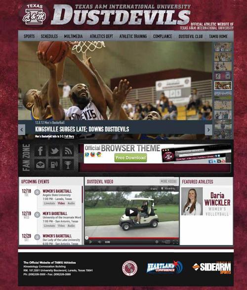 GoDustdevils.com website in 2012