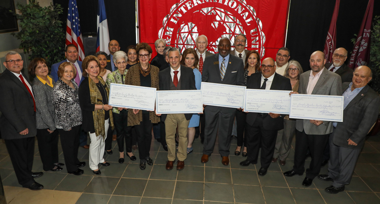 Five community organizations shared the $500,000 gift of the Samuel N. Johnson, Jr. 2013 Charitable Remainder Annuity Trust.