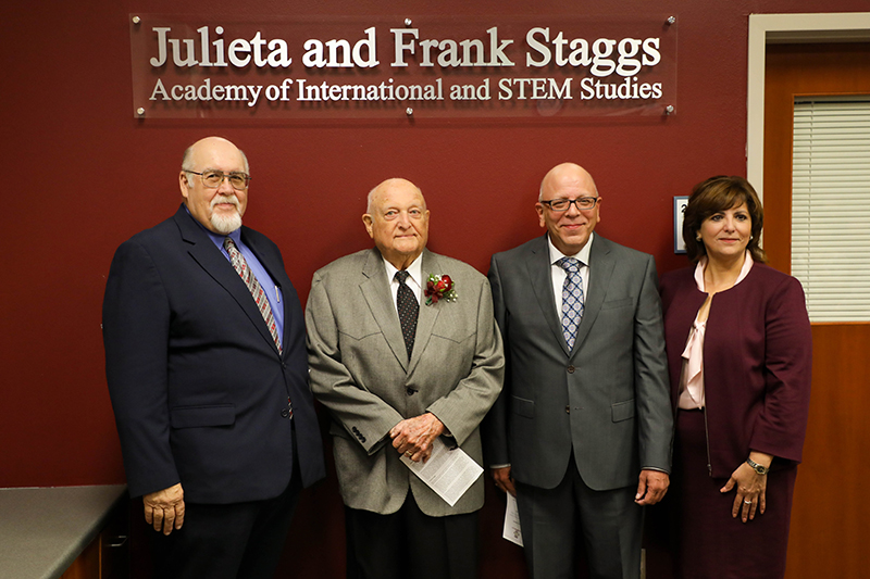 Staggs Academy of International and STEM Studies name unveiling ceremony