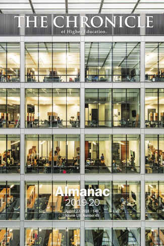 Cover photo of The Chronicle of Higher Education 2019 Almanac