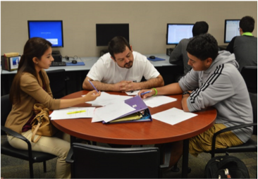 Students at TAMIU Writing Center