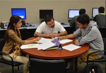 Students at TAMIU Writing Center