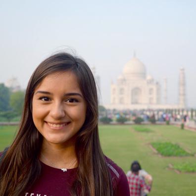 TAMIU student in India