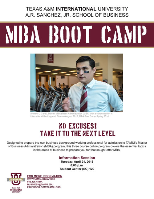 MBA Boot Camp Information Session - April 21, 2015