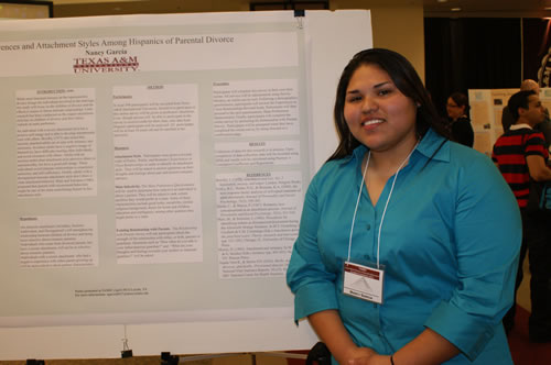 Masters student Nancy Garcia at the LBV Conference