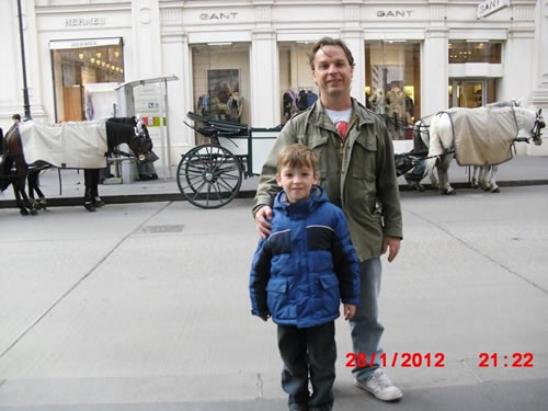 Dr. Ferguson and his son Roman in Vienna