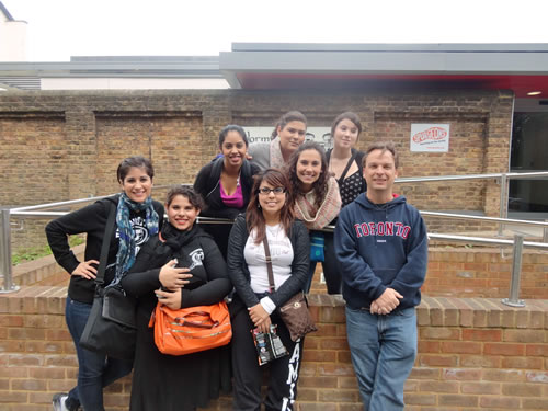 Forensic Psychology Study Abroad: Outside Wormwood Scrubs prison.  The two gentlemen who attended the class were camera shy and are not in any of the photos I have yet.