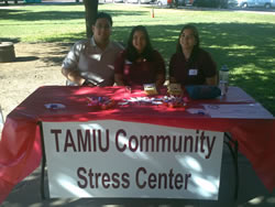 Tamiu Community Stress Center students reaching out to the community