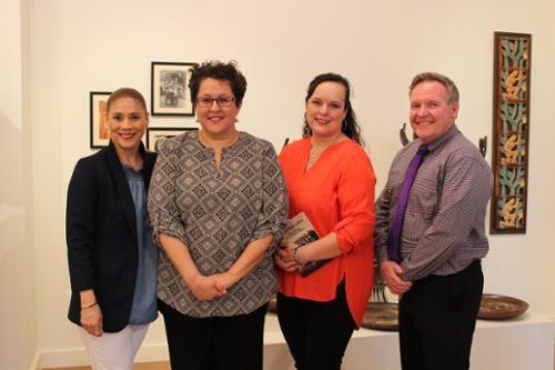 Dr. Bernice Sanchez, author Christine Granados, Mayra Pena, and COED Dean Dr. James O'Meara