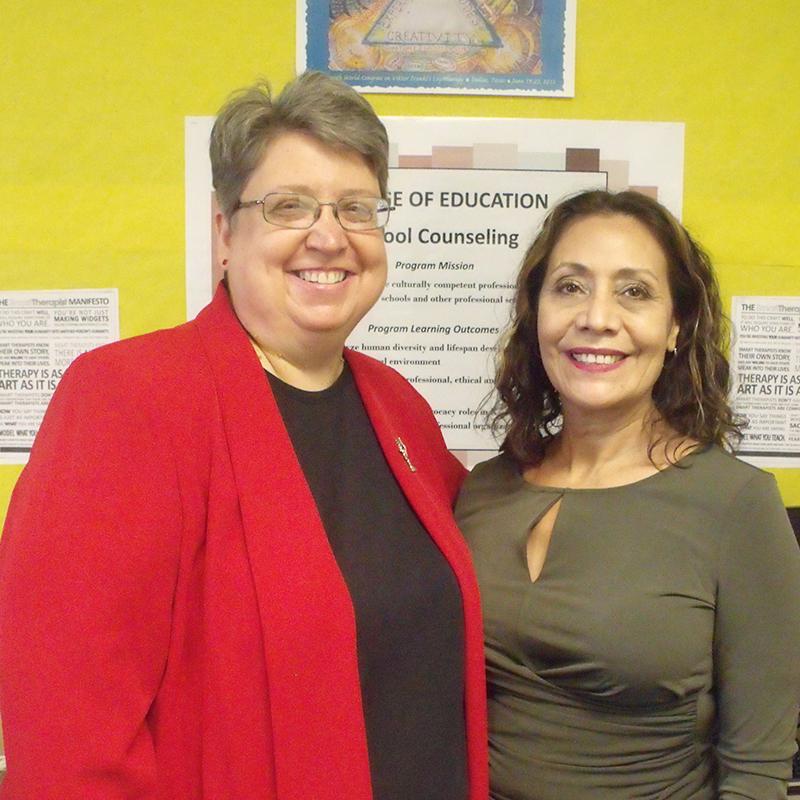 Dr. Lorraine Dinkel and Lourdes Ornelas