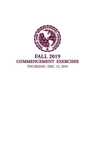Commencement Program cover