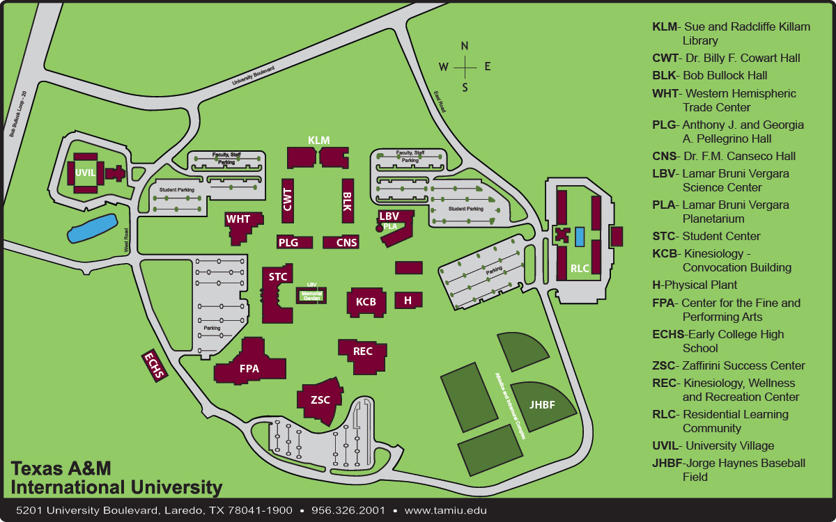texas state university campus map pdf