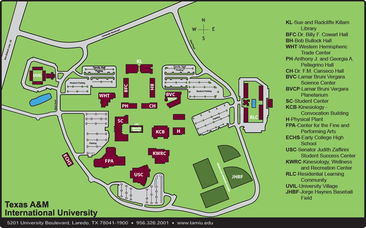 TAMIU Campus Map