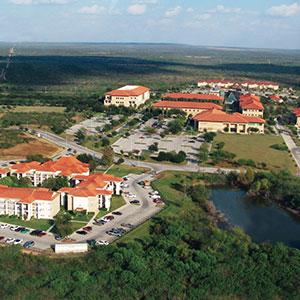 Aerial view of TAMIU campus