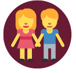 woman and man in close contact icon
