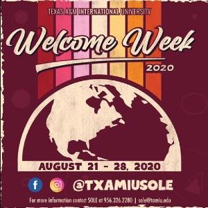 Welcome Week flyer