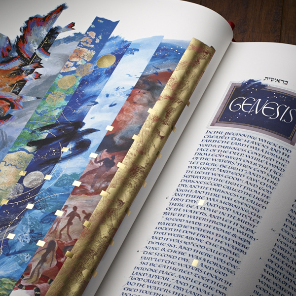 Vibrant colors fill the pages of the Heritage Edition of The Saint John's Bible