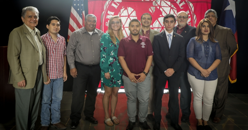 TAMIU Students met with Cong. Henry Cuéllar and University administrators in preparation for their travel to Azerbaijan.