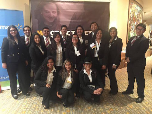 TAMIU Enactus members celebrate their victory at the Dallas competition.