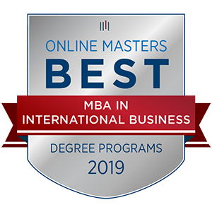Seal for OnlineMasters.com MBA Award