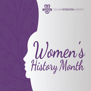 Poster Art for TAMIU Women's History Month