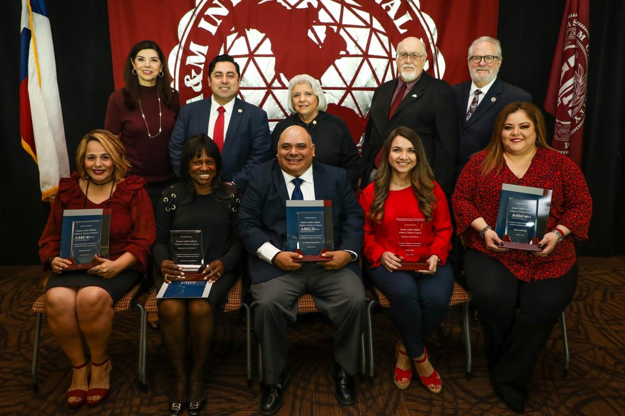 Recipients of Educator Grants alongside Carlos Zaffirini Jr. and Senator Judith Zaffirini