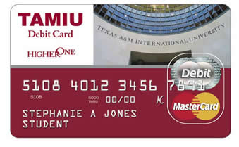 TAMIU Debit Card Image