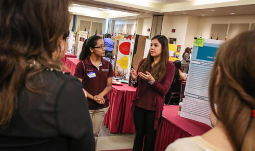 students at the expo