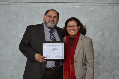 Dr. Sergio Garza and Dr. Marcela Uribe