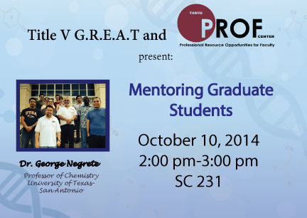 Mentoring Graduate Students Workshop