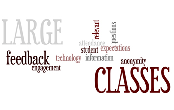 Word cloud for large classes