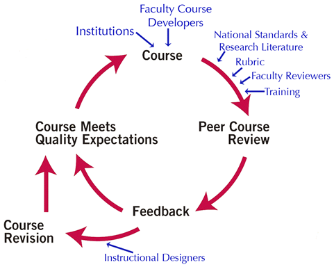 Quality Matters Course Review Process Image