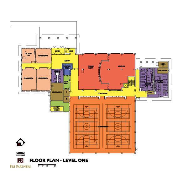 Gym Plans Floor Plan: Texas A&M International University