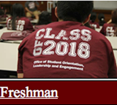 Link to Freshman Orientation Page