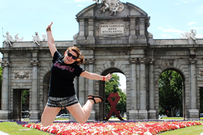 TAMIU Student studying abroad